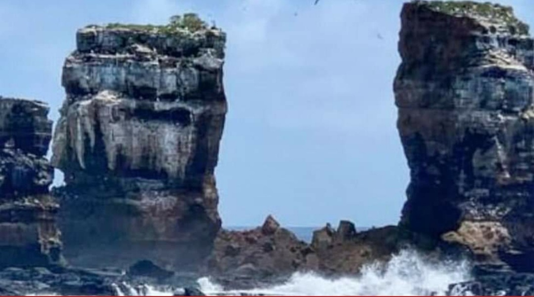 """Photo of A famous Islands has collapsed due to """"Natural Erosion""""."""